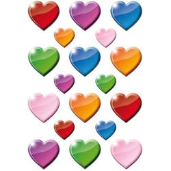 Sticker Decor Bunte Herzen VE=3 Blatt