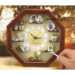 Reutter Porzellan Wanduhr Reutter Miniaturen - Hummel Wanduhr 22x22cm (24.668/0) Miniaturenwanduhr Uhr