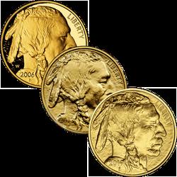 1 Unze Gold American Buffalo diverse Jahrgänge