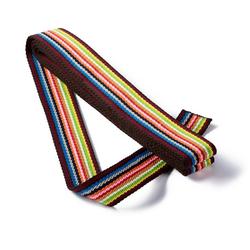 PRYM Gurtband für Taschen, 40mm, mehrfarbig, 3m, braun/mehrfarbig, 100% Polyester, Bänder & Borten, Gurtbänder