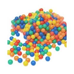 LittleTom 400 Boules de couleur Ø 6 cm de diamètre | petites Balles colorées en plastique jeu jouet