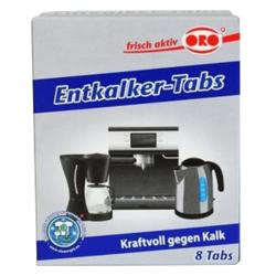 ORO-fix® Entkalker Tabs, Entkalker Tabletten für alle Haushaltsgeräte, 1 Packung = 8 x 16 g