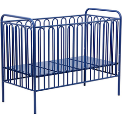 Kinderbett Vintage 150 aus Metall, blau