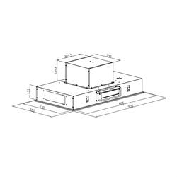 Remy Deckenhaube 90 cm 620 m3/h 230W 3 Stufen Fernbedienung weiß