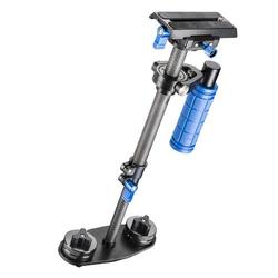 Walimex Pro StabyPod XS Schwebestativ 1/4 Zoll Schwarz, Blau mit Gegengewicht