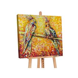YS-Art Gemälde Papagei in der Sonne PS073