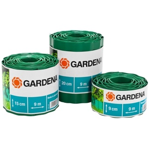Gardena Raseneinfassung 9 cm hoch  Garten-Einfassungsrolle  Kunststoff  Grün  90 mm  9 m  1 Stück(e)