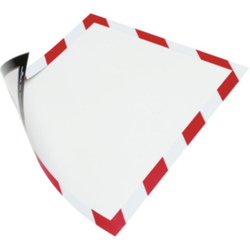 Magnetrahmen. magnethaftende Rückseite A4 Farbe rot/weiß