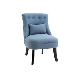 HOMCOM Sessel Relaxsessel mit Rückenkissen blau