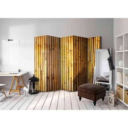 Raumteiler Paravent mit Bambus 5-teilig
