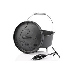 BBQ-Toro Feuertopf BBQ-Toro Dutch Oven DO45A, 3,1 L Alpha Gusseisen Kochtopf, Gusstopf