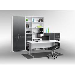 Maja Möbel Büromöbel-Set MAJA SYSTEM 1200, in Icy-weiß / grau