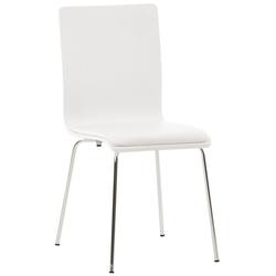 CLP Besucherstuhl Pepe PVC, mit ergonomisch geformter Sitzfläche weiß