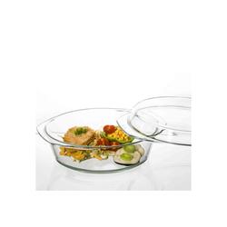 SIMAX Auflaufform Glas Auflaufform mit Deckel 26,8 cm, Glas, (1-St)