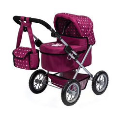 MyToys-COLLECTION Puppenwagen Puppenwagen Trendy pink/blau rot