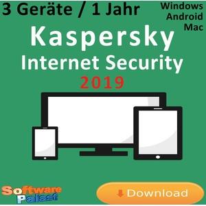Kaspersky Internet Security 2019 *3-Geräte / 1-Jahr* Vollversion Deutsch KEY