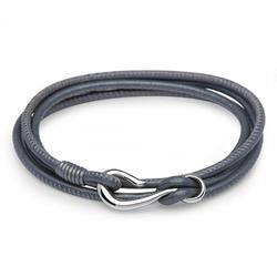 Armband aus dunkelgrauem Leder