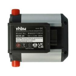 vhbw Li-Ion Batterie2000mAh(18V)pour outils de jardin électriques Gardena Trimmer ComfortCut