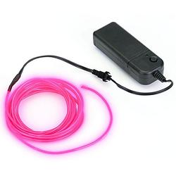 LED-Leuchtschnur, pink, mit Batteriekasten