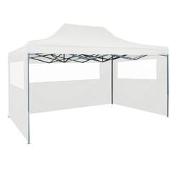 vidaXL Partyzelt vidaXL Faltbares Partyzelt mit 3 Seitenwänden 3 x 4,5 m Weiß