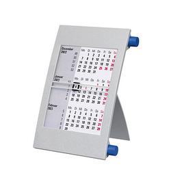 Tischkalender Drehkalender 2022/2023 grau/blau