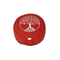 yogabox Yogakissen Glückssitz Lebensbaum rot