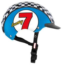 Fahrradhelm Mini 2 für Kinder, XS 46-52 cm, Lucky 7 blau