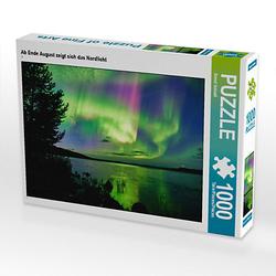 Ab Ende August zeigt sich das Nordlicht Lege-Größe 64 x 48 cm Foto-Puzzle Bild von Bernd Schiedl Puzzle