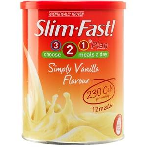 Slim-Fast Simply Vanilla Flavour Milkshake Powder 438g (Pack of 3)