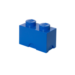 LEGO® Aufbewahrungsstein mit 2 Noppen in Blau
