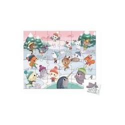Janod Puzzle Puzzle Schneeparty, 54 Teile, Puzzleteile