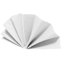 Servietten DekoStar 40 x 40 cm, weiß, 40 Stk.