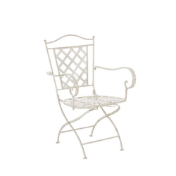 CLP Gartenstuhl Adara handgefertigter Gartenstuhl aus Eisen natur