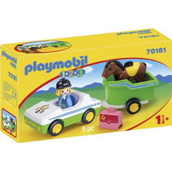 Playmobil® 123 PKW mit Pferdeanhänger 70181