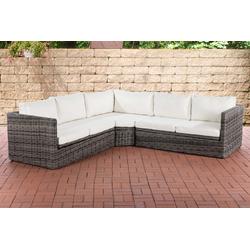 CLP Loungeset Ecksofa Tibera 5mm, Gartensofa mit 5 Sitzplätzen grau