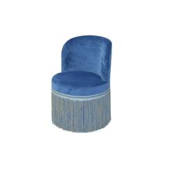 moebel-direkt-online Sessel Max (1-tlg), trendige Samtoptik blau