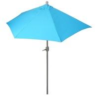 MCW Balkonschirm Lorca-S-300, LxB: 285x145 cm, Optional mit Schirmständer, witterungsfest, Platzsparend zusammenfaltbar blau