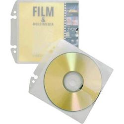 Durable CD/DVD Ordner-Hülle 1 CD/DVD/Blu-Ray PP Transparent 10 St. 522319
