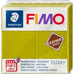 FIMO Modelliermasse Fimo Leder-Effect, 57 g grün
