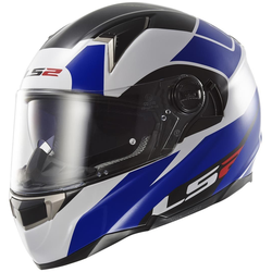 LS2 FF396 Dart FT2 Thunderbolt Helm, wit-blauw, XS