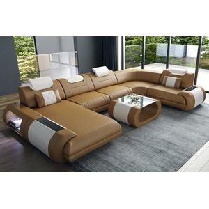 Sofa Dreams Wohnlandschaft Rimini, U Form braun