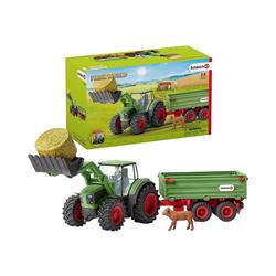 Schleich® Spielfigur Schleich 42379 Traktor mit Anhänger