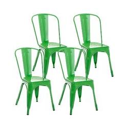 CLP - 4er Set Stuhl Benedikt-grün