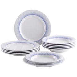 Kahla Geschirr-Set Tafelservice, 12 tlg., Wir machen Blau (12-tlg), Porzellan