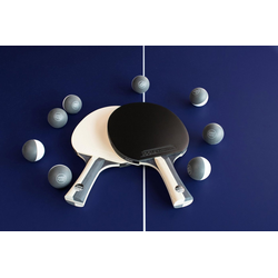 Joola Tischtennisschläger JOOLA Tischtennis-Set BLACK + WHITE (Set, 10-tlg., mit Bällen)