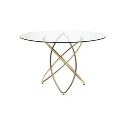 KARE Esstisch Tisch Molekular Gold 120cm