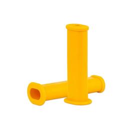 BigDean Schubkarre 2x Schubkarrengriffe Oval 35mm Kunststoff Karrengriff Schiebkarre Sackkarre gelb