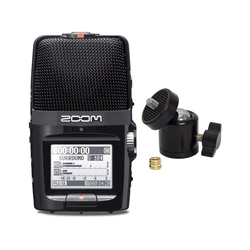 ZOOM Mikrofon Zoom H2n Recorder + Kugelgelenk Stativ-Adapter