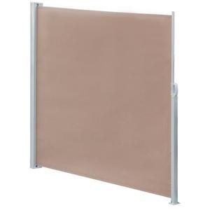 Mucola Seitenmarkise Seitenmarkise Balkonmarkise Markise Windschutz Seitenrollo Sichtschutzwand ausziehbar braun 180 cm