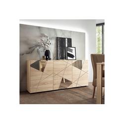 LC Sideboard Vittoria Sideboard, Breite 181 cm, Front mit Siebdruck und Spiegel beige